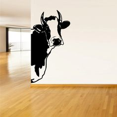 I'd love to have a little bit of my parents farm in my home ♡ Wall Vinyl Sticker Decals Decor Art Bedroom Design Mural Modern Design Cow