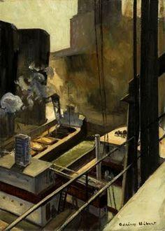 """Montréal Harbour"" 1927 by Adriene Hebert"