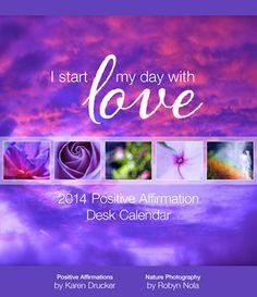 Positive Affirmation Desk Calendar for 2014 ♥ #affirmations