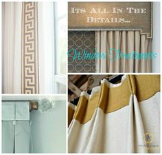 Window Treatments- It's all in the details. #interiordesign #window #treatments