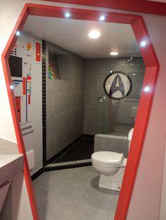Let's see what's in the Star Trek toilet.   A Star Trek Fan Spent $30,000 Turning Her Basement Into The Starship Enterprise