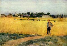 """""""Dans les Blés"""" de Berthe Morisot; at the Musée d'Orsay"""