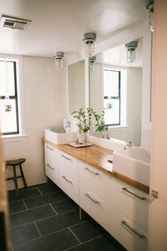 Complete Bathroom Overhaul | Vintage Revivals basement bathroom, bathroom overhaul, bathroom makeovers, floor, dream bathrooms, downstairs bath, bathroom renos, bath design