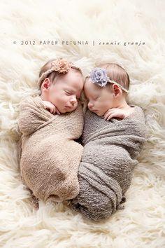 Shabby Chic Newborn Twin Girls {Delray Beach Newborn Photographer}   Paper Petunia Family Photography