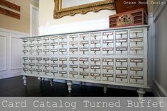 libraries, buffets, vintage library, dream, old cards, cardcatalog, card catalog, drawer, vintage cards