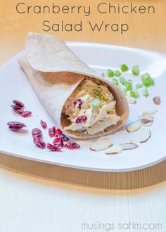 Cranberry Chicken Salad Wrap