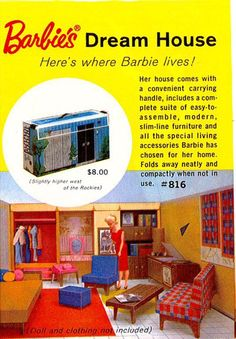 Barbie's Dream House cost $8 in 1962