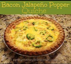 Bacon Jalapeno Popper Quiche !