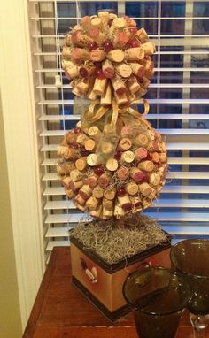 Wine Cork Topiary by WildOrchidBoutique on Etsy, $78.00