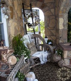 Cottage Porch in Neutrals