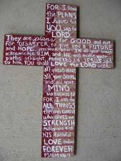 Wooden Cross Hand Painted