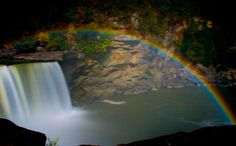 Moonbow at Cumberland Falls Kentucky, one of only two places in the world where it is possible to view this phenomenon  (The other being Victoria Falls in Nigeria, Africa)``