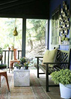 Classic Country Porches via Country Home #porch