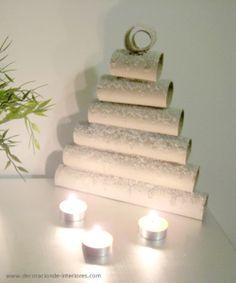 Mini árbol con tubos de cartón reciclados #DIY   Decoración de Interiores • Cardboard tubes tree