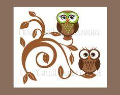 Owl Cross-Stitch Pattern for Nursery.