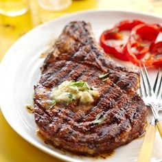 Grilled Ribeye Steak with Whiskey Butter