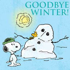 Goodbye Winter! hello spring, charli brown, goodby winter, peanut gang