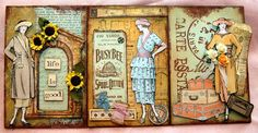 CREATIVITY IS CONTAGIOUS: SHABBY CHIC VINTAGE POST CARDS, #tags #papercrafts