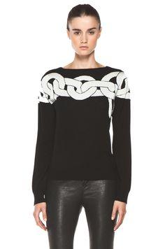 Diane von Furstenberg Tinkit Sweater in Simple Chains Black