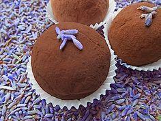 Fresh lavender infused chocolate truffles