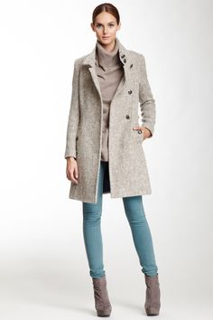 Izzy Asymmetrical Belted Military Coat//