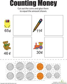 Worksheets: Counting Money II