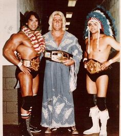 Rick Steamboat, Ric Flair, and Jay Youngblood