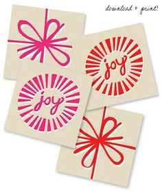 Christmas Printables Mega Mix! Christmas Labels and Lovelies for Gift Wrapping