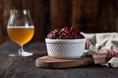 Beer and cranberries