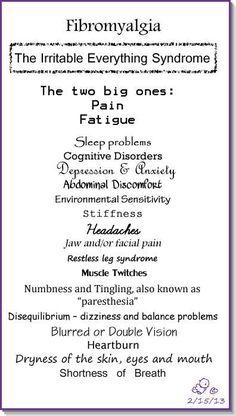 Fibromyalgia -The irritable everything syndrome
