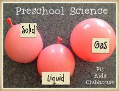 Solid, liquid, gas experiment using balloons