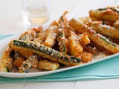 : Giada's Crispy Fried Zucchini. With just a handful of ingredients, Giada turns seasonal zucchini into crispy, golden-brown veggie fries.
