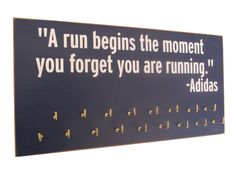 Inspirational medals display rack - Adidas: Running On The Wall