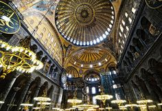 In Istanbul, the One Kings Lane crew was completely inspired by the marble and mosaics inside Hagia Sophia.