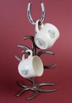 Horseshoe Mug Holder...Mug Rack...Cup Hanger...Kitchen Decor...Western Kitchen... on Etsy, $69.99