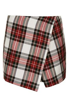 Topshop Plaid Asymmetrical Skort available at #Nordstrom