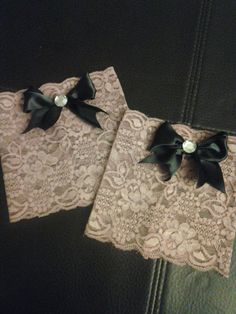 Lace boot cuffs with handmade classy bow by CountryGirlBotique