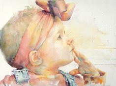 love this little girl, watercolor