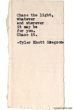 Typewriter Series #586 by Tyler Knott Gregson