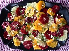 mints, peppers, feta, food, winter citrus, serious eat, citrus salad, salads, black pepper