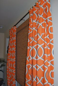modern orange lattice curtains living room pinterest