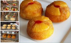 MyFridgeFood - Pineapple Upside Down Cupcakes
