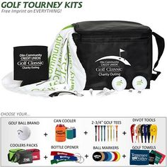 Promotional 6-Pack Cooler Golf Tournament Kit | Customized Golf Gift Kits