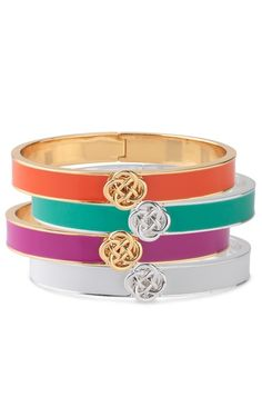 Stella  Dot Lindsay Bangles--available in turquoise, pink, orange  white #poc #summer #armparty summer-collection