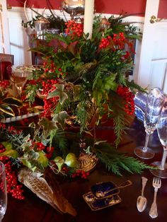 Jennings Gates: Notes from a Virginia Country House* christmas dinners, virginia countri, country houses, countri christma, christmas tables, christma tabl, christma dinner, country christmas, tabl decor