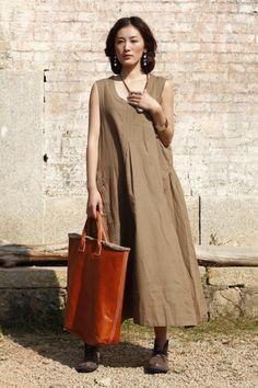 loose linen sundress
