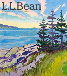 #LLBean Spring 2014 catalog cover art by Andrea Peters