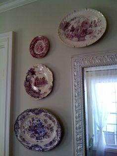 Maison Decor ~ purple transfer ware