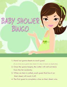 St. Patricks Day Baby Shower Bingo