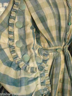 silk/wool blend gathered bodice.
